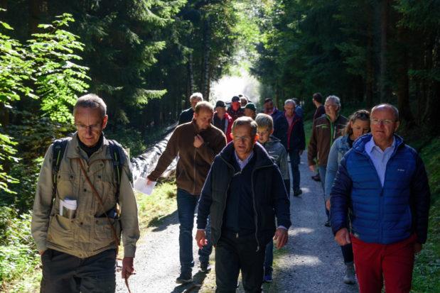 Waldbesitzertag 2019 am Weißenstein bei Stammbach